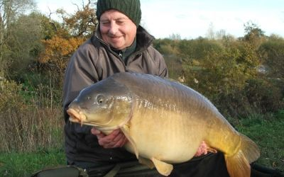 Kevin Clarke with Netted Fish - 45lb 8oz