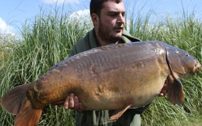 Matt Rosenbloom with his latest PB - 38lb 10oz