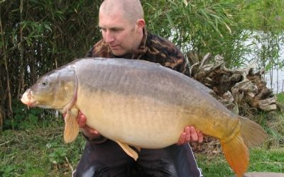 Andy Phillips with the Netted Fish - 40lb
