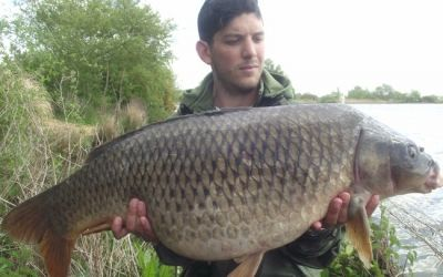 Mitchell Das with an unknown fish - 39lb