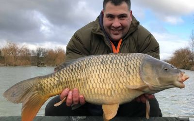 Ed Khoury with a Car Park Lake stunner caught on a day session.
