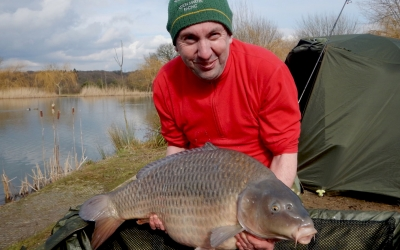 Gary Bennett with a 27 Winter Valley Lake Common.