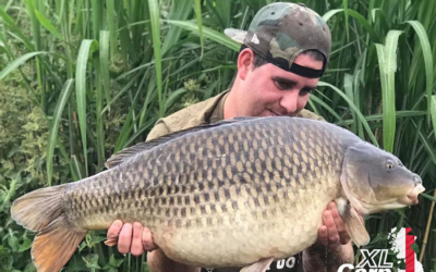 Adam Davis with a stunning Valley Lake common xlcarp fisheries ingatestone